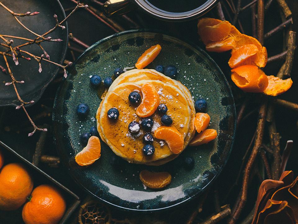 Pancakes à la plancha cuisinés avec Cooxy