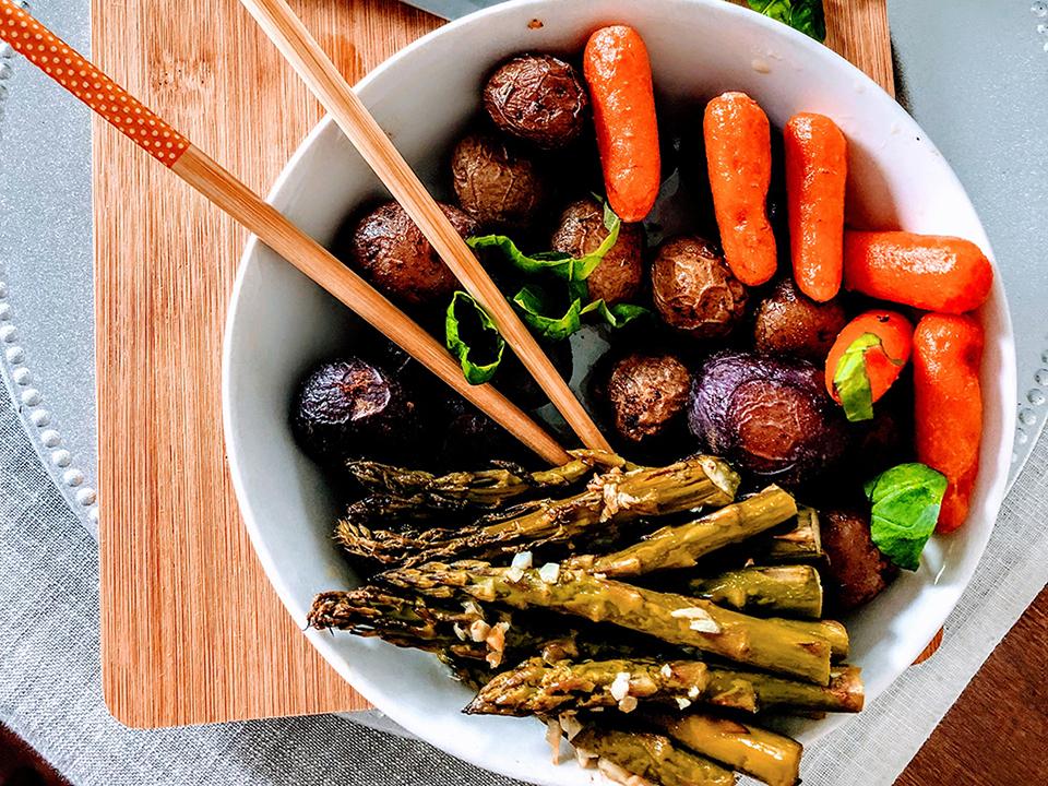 Quelques légumes grillés à la plancha avec Cooxy