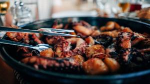 Poulpes à la plancha cuisinés avec Cooxy