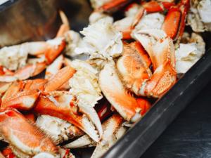Pinces de crabe à la plancha et leur mayonnaise maison avec Cooxy