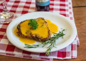 Côtes de veau à la plancha sauce à la mangue cuisinées avec Cooxy