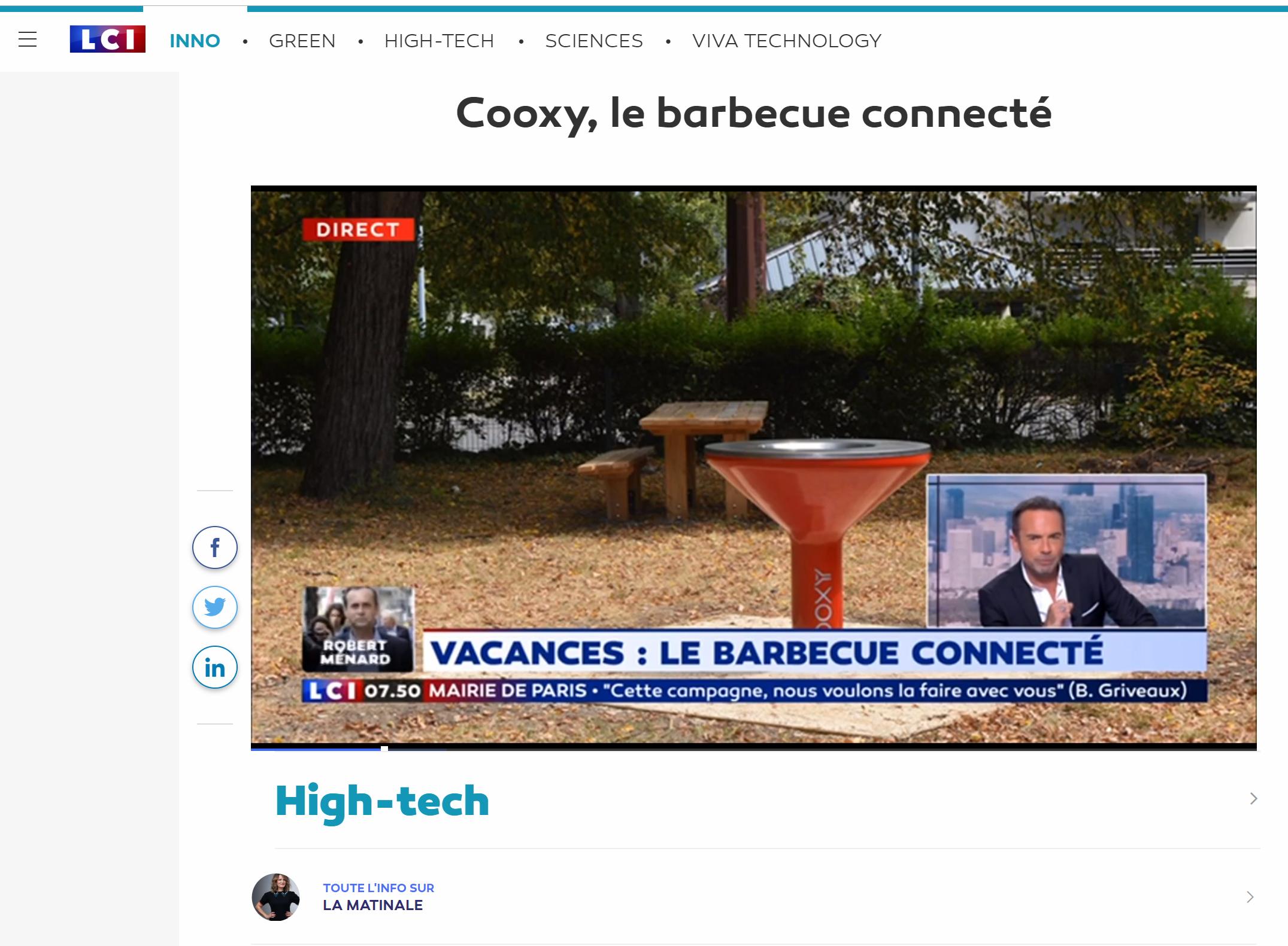 [Revue de Presse] LCI met à l'honneur le BBQ connecté COOXY