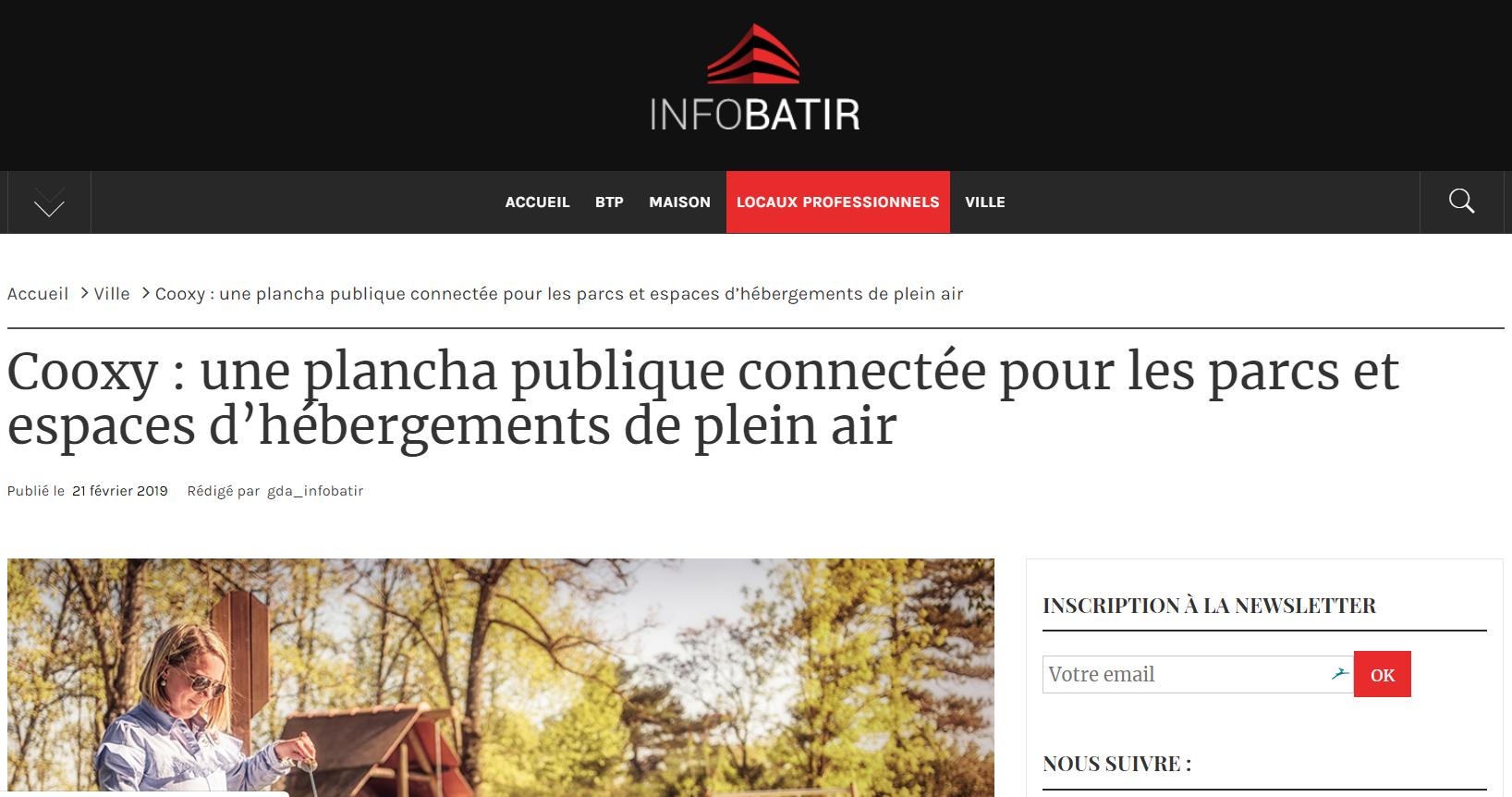 [Revue de presse] Cooxy sur Infobatir.fr