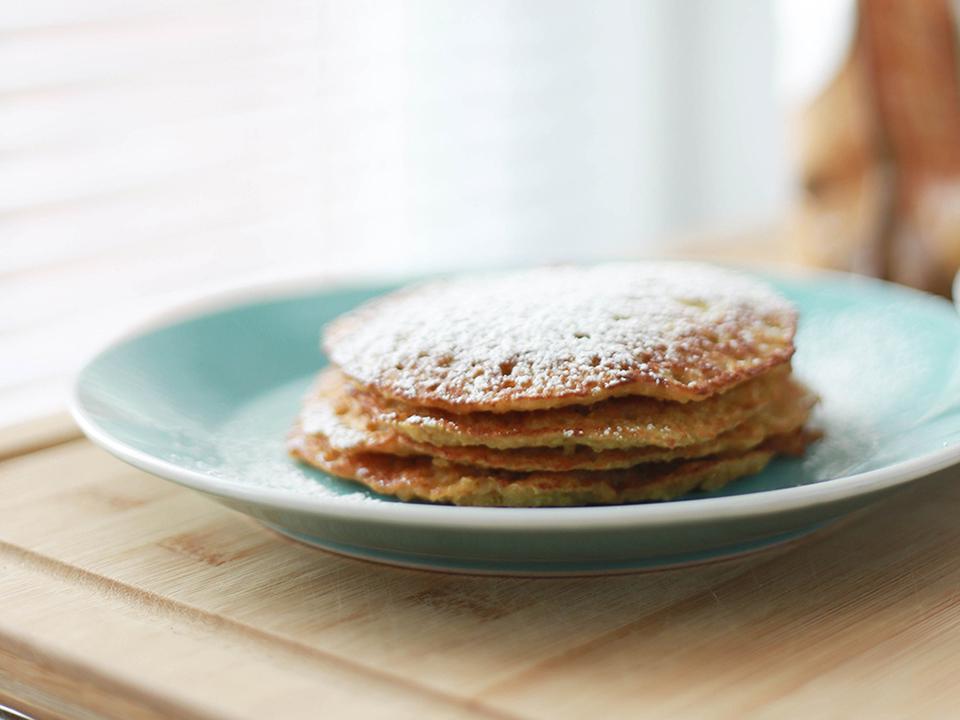Pancakes végans à la plancha cuisinés avec Cooxy