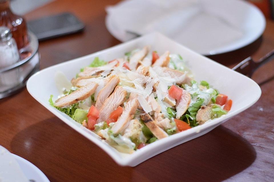 Salade césar à la plancha cuisinée avec Cooxy